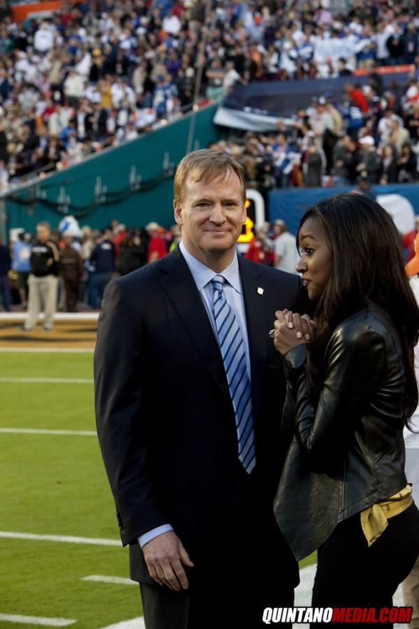 Roger Goodell at Super Bowl XLIV