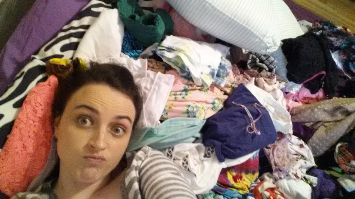 Swimming the sea of wardrobe disaster.