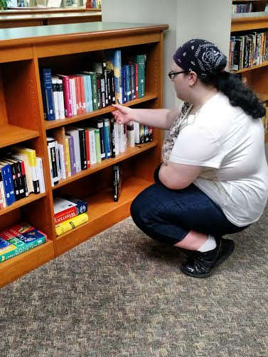 Student searches for a copy of