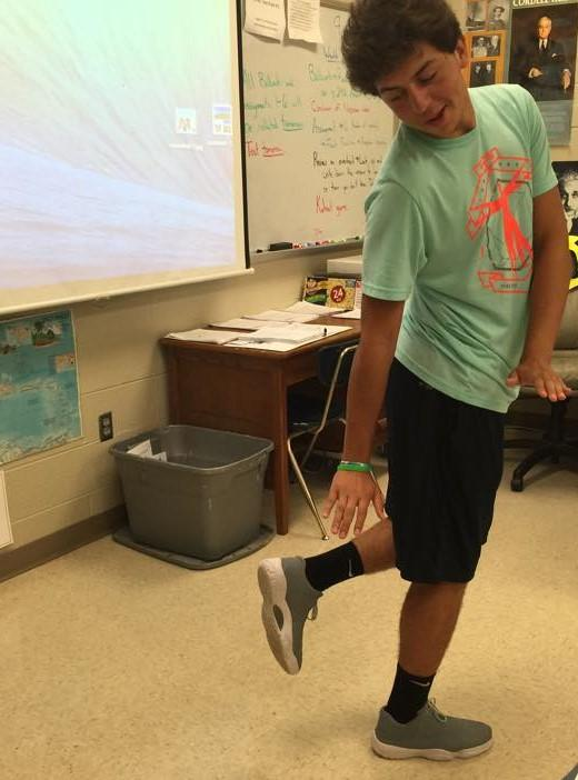 Cayden Clark hits the Quan before social studies.