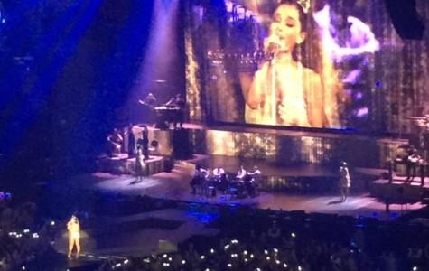 Ariana Grande performs at Brigestone Arena.