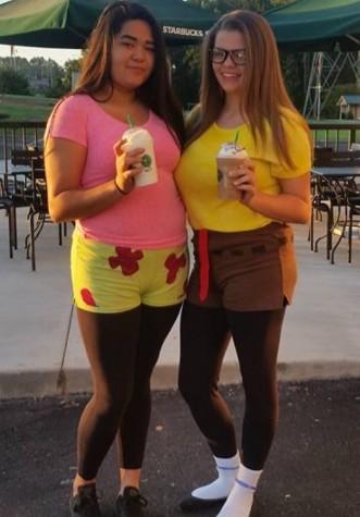 Dana Vasquez (10) and Alyssa Rolon (10) dressed as Spongebob and Patrick.