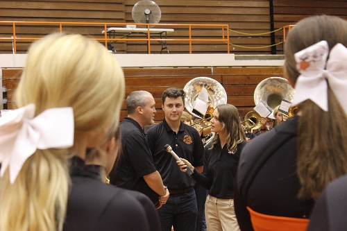 WBIR interviews the band director, Adam Huff.