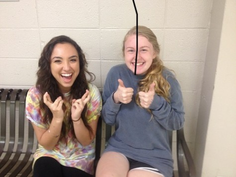 Hayley Parkerson (12) and Yasmin Karimian (12) are excited to nominate girls for homecoming court.