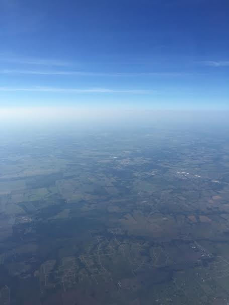 I am Flying over Texas. 2015
