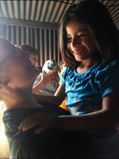 A little girl hugged me nonstop in San Miguel, Guatemala.