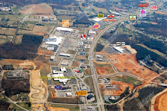 The over look of Lenoir city before more advancements.