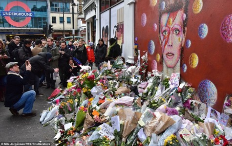 A shrine for the late David Bowie.
