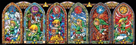"A stained glass portrait of Link, ""Legend Of Zelda"" protagonist."