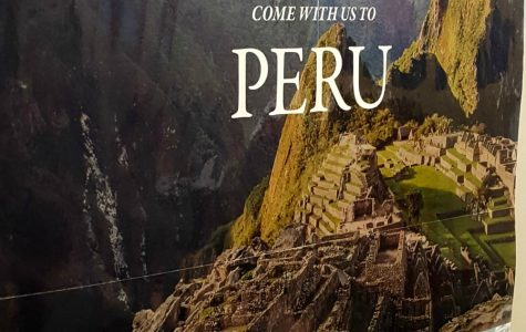 Poster invites students to come to Peru in 2018.