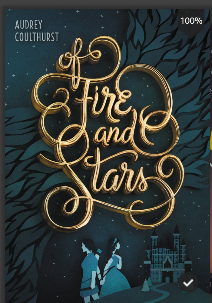 The front cover of  'Of Fire and Stars' by Audrey Coulthurst from a kindle app screenshot.