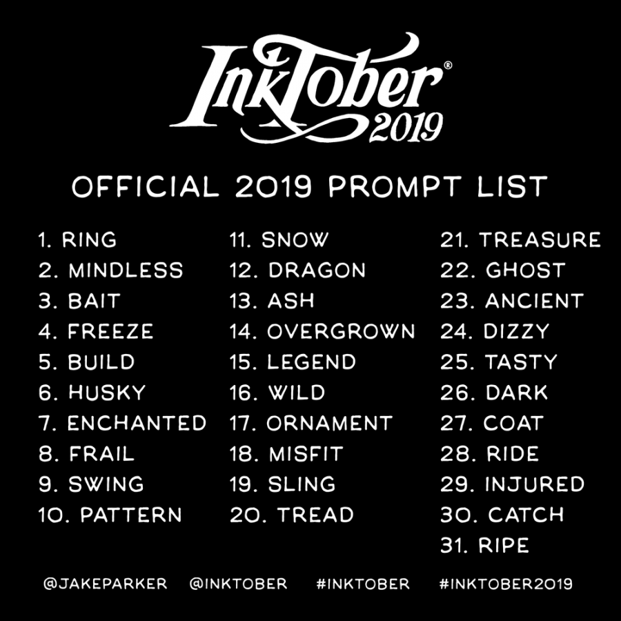 Inktober prompt list