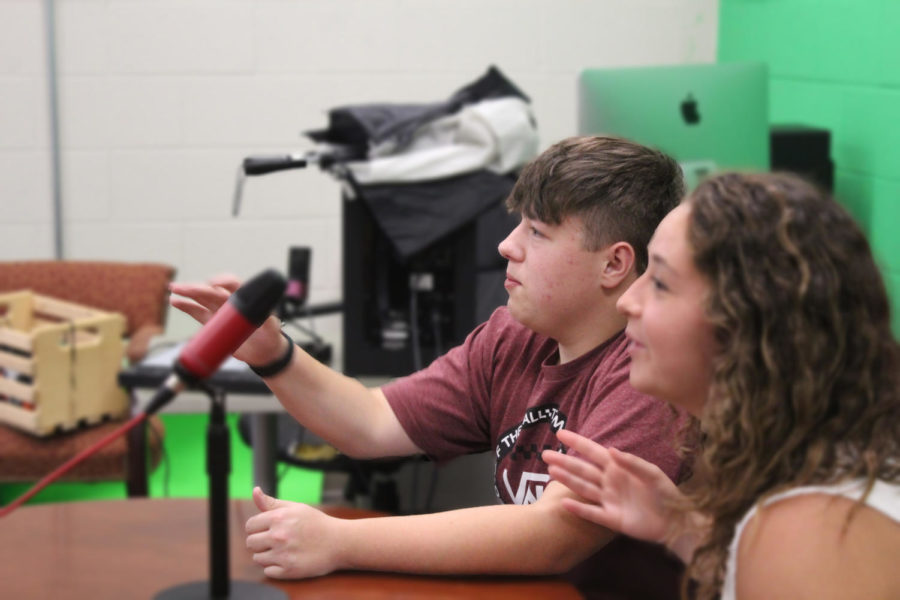 AV class practicing for the finalization of the announcements